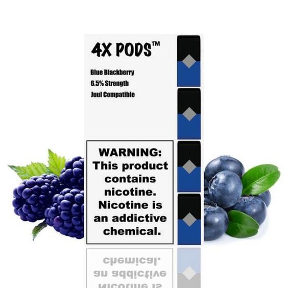 4X Pods Blue Blackberry