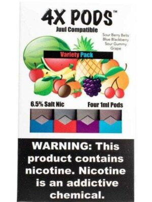 4X Pods Variety Pack for Juul 4pcs