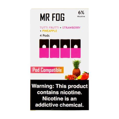 Mr Fog Tutti Frutti + Strawberry + Pineapple 4 Pods