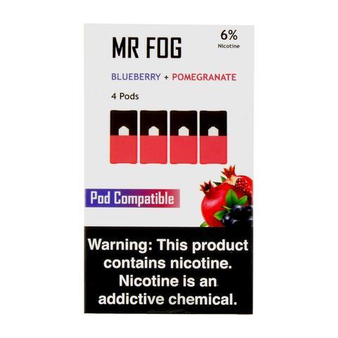 Mr Fog Blueberry + Pomegranate 4 Pods