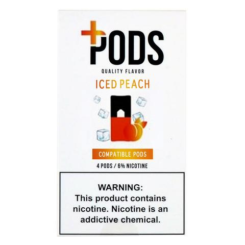Plus Pods Iced Peach Pack of 4