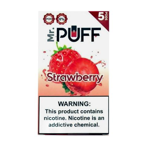 Mr Puff Strawberry 5 Pods