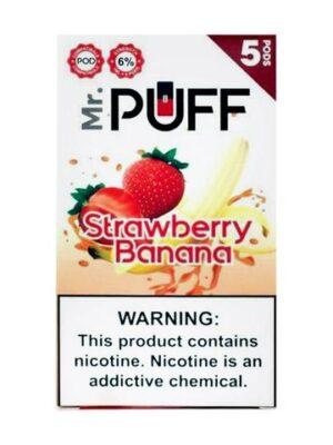 Mr Puff Strawberry Banana 5 Pods
